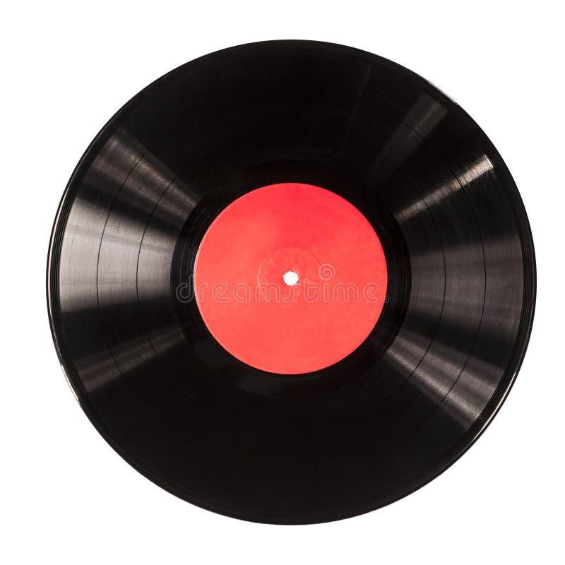 Black vinyl record royalty free stock photo