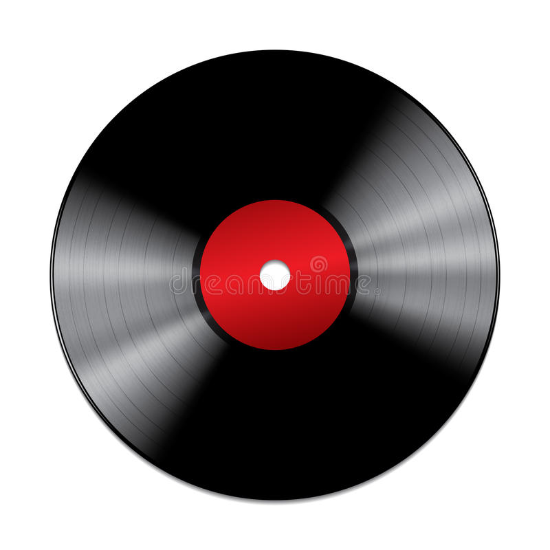 Download Black Vinyl Record Isolated On White Background Royalty Free Stock Images - Image: 31426739