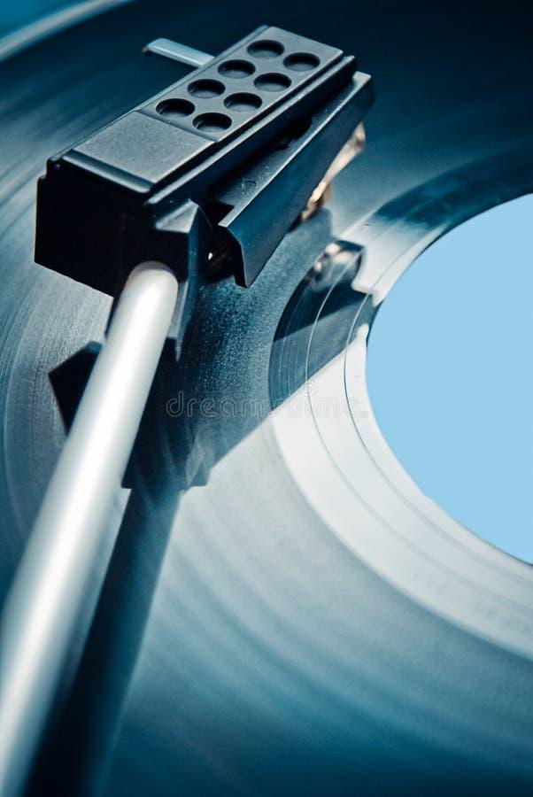 Black vinyl record lp stock photo