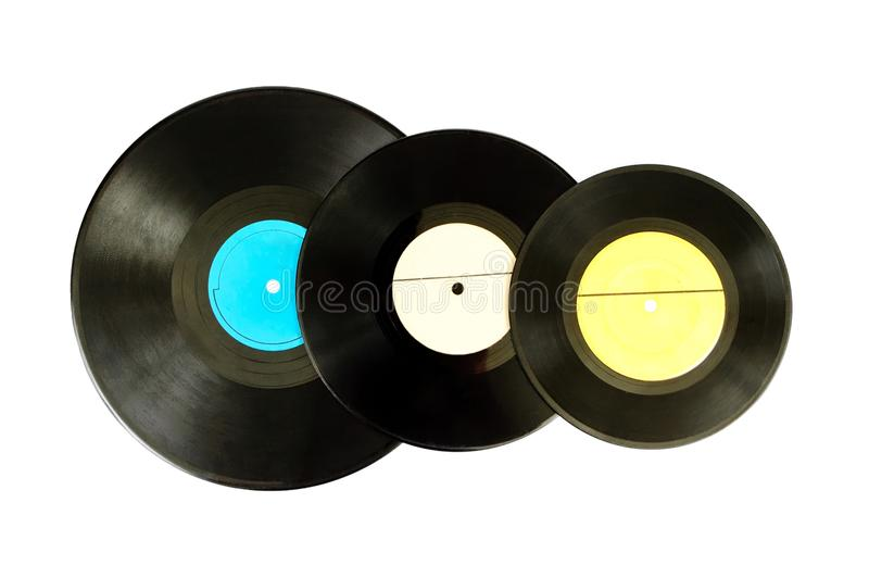 Black vinyl record lp album disc stock photos
