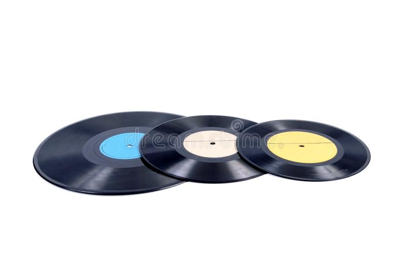 Black vinyl record lp album disc stock images