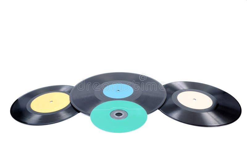 Black vinyl record lp album disc royalty free stock images