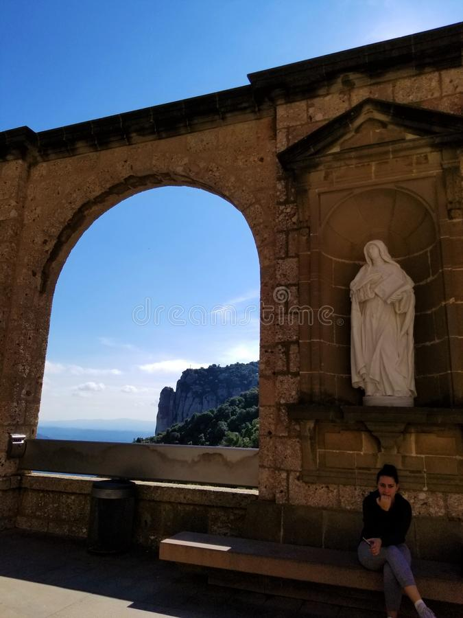 The Black Virgin of Montserrat makes you think... stock image