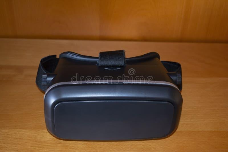Black Virtual Reality Glasses royalty free stock photo