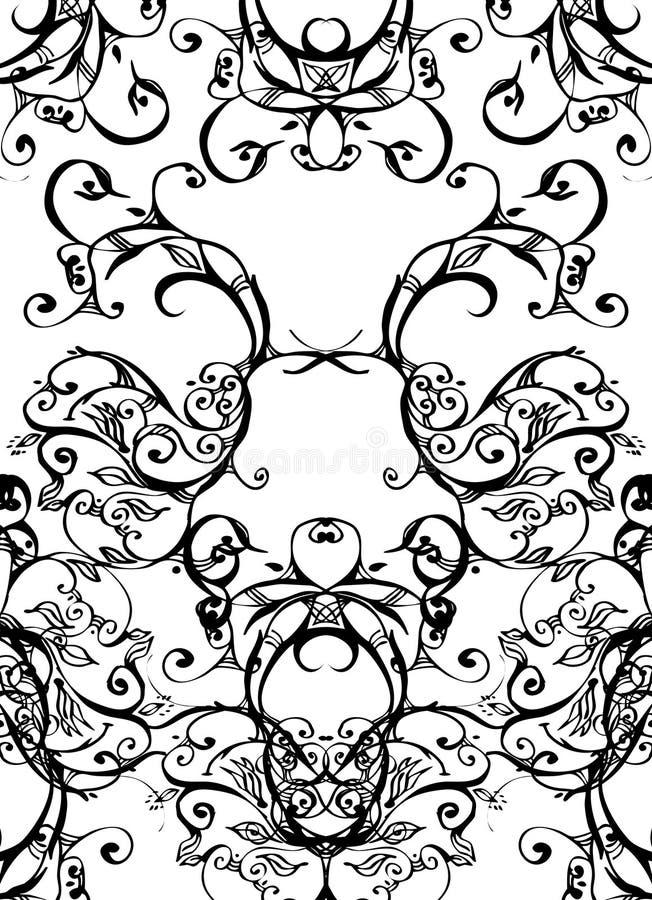black virveer white royaltyfri illustrationer