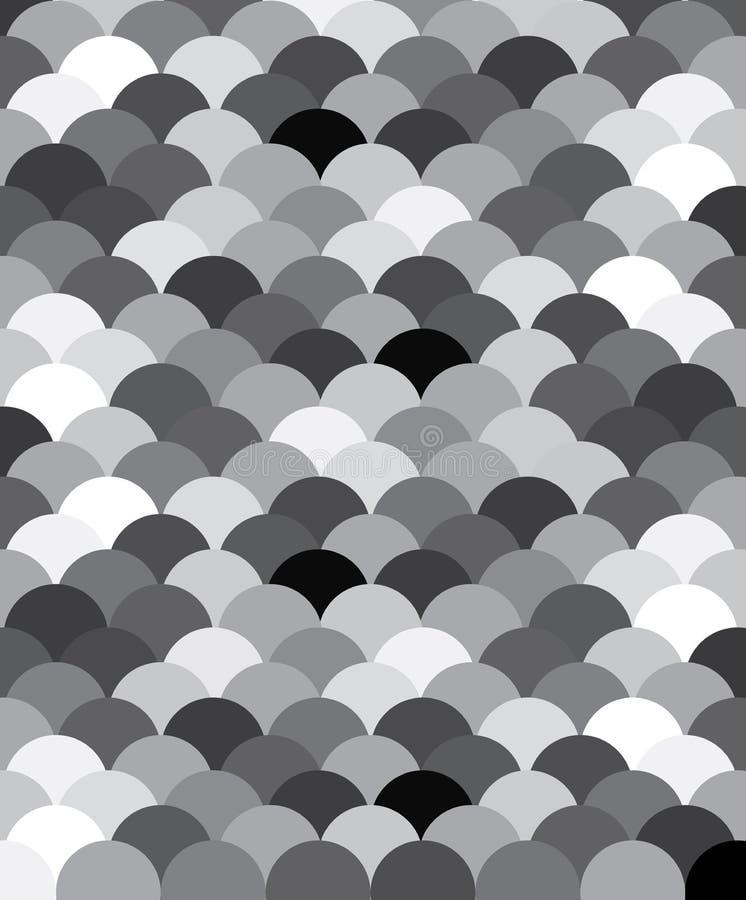 Black vita scales för fisklamodellen