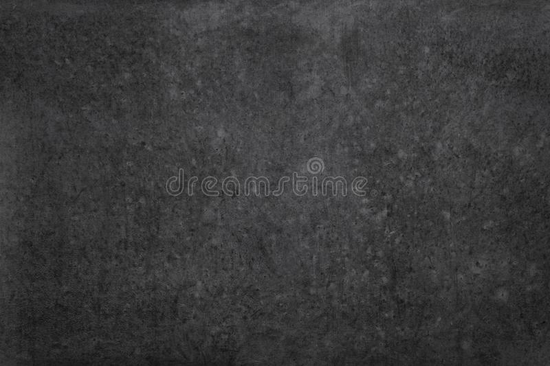 Black wall background - vintage concrete or cement stone texture stock photo