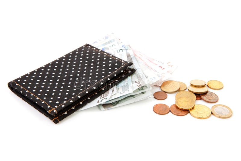 Download Black Wallet With Euro Money Stock Image - Image: 19204923