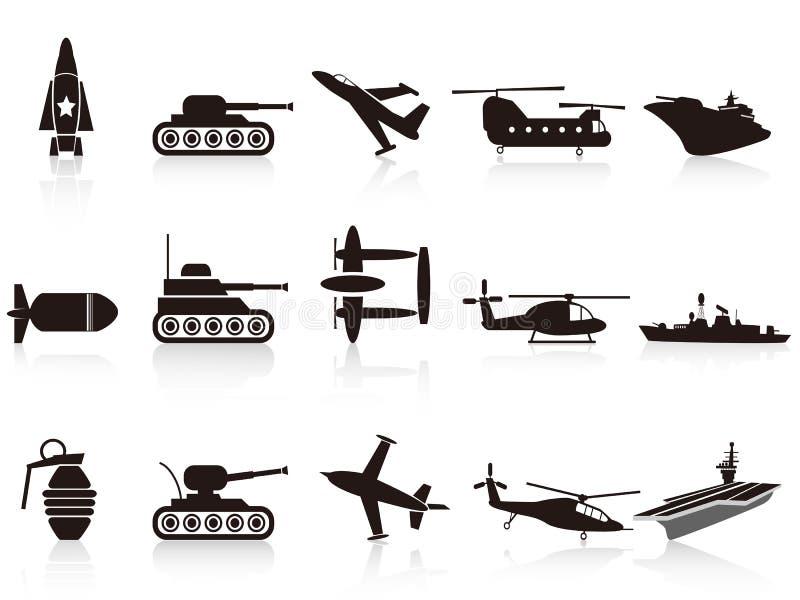 Download Black War Weapon Icons Set Royalty Free Stock Photo - Image: 24114005