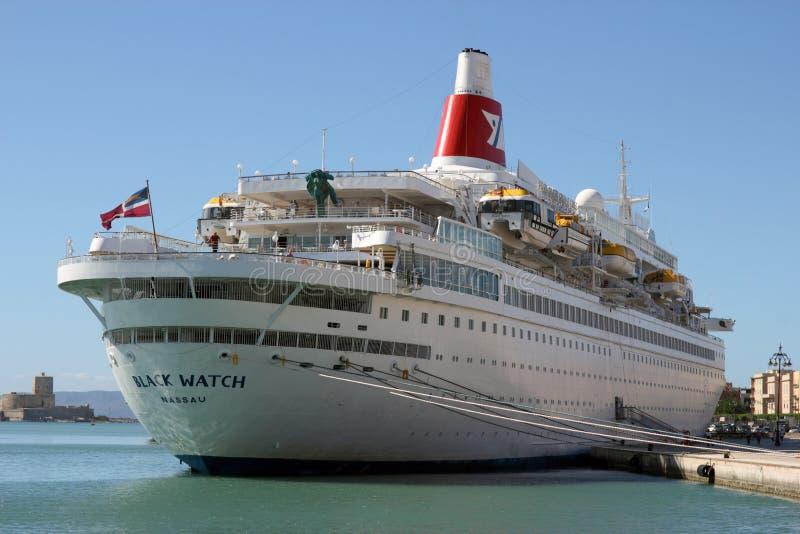 Black Watch cruise ship royalty free stock photo