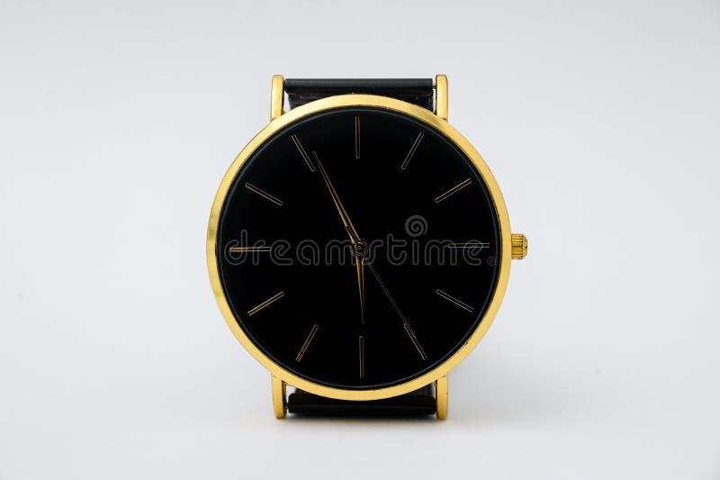 Black watch for men on white background. Black watch for men on white background stock images