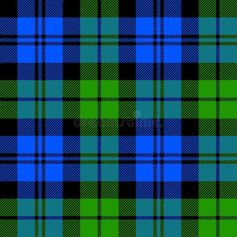 Black Watch milytary tartan seamless pattern royalty free illustration