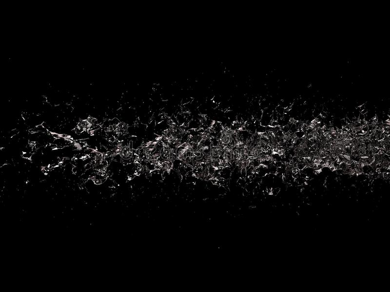 Black Water. A 3d creation of water on a black backgound vector illustration