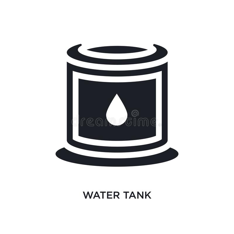 black water tank isolated vector icon. simple element illustration from industry concept vector icons. water tank editable logo royalty free illustration