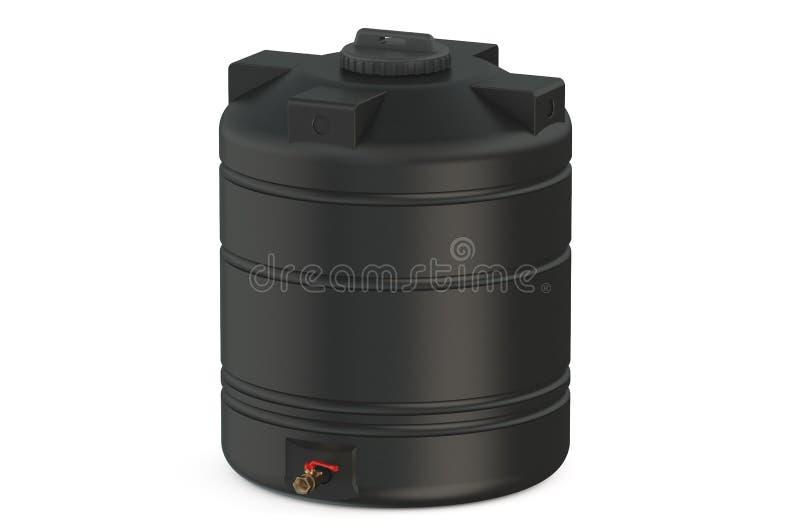 Black water tank royalty free illustration