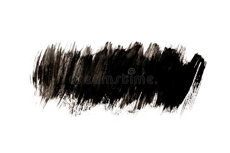 Black watercolor pattern isolated on white background stock photos