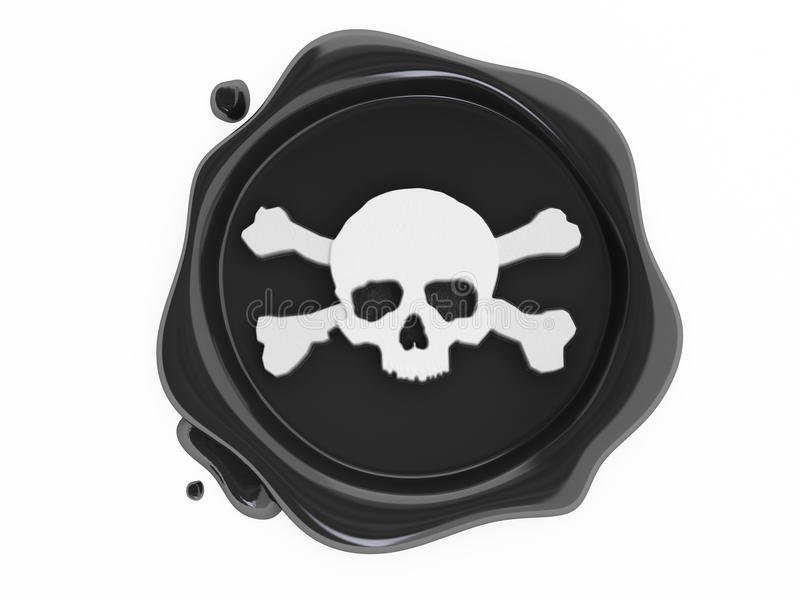 Download Black Wax Pirates Skulls Symbol White Stock Illustration - Image: 9470773