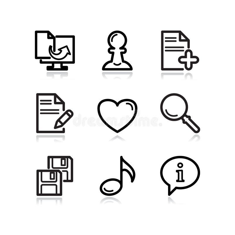 Download Black Web Icons, Set 10 Stock Images - Image: 5205494