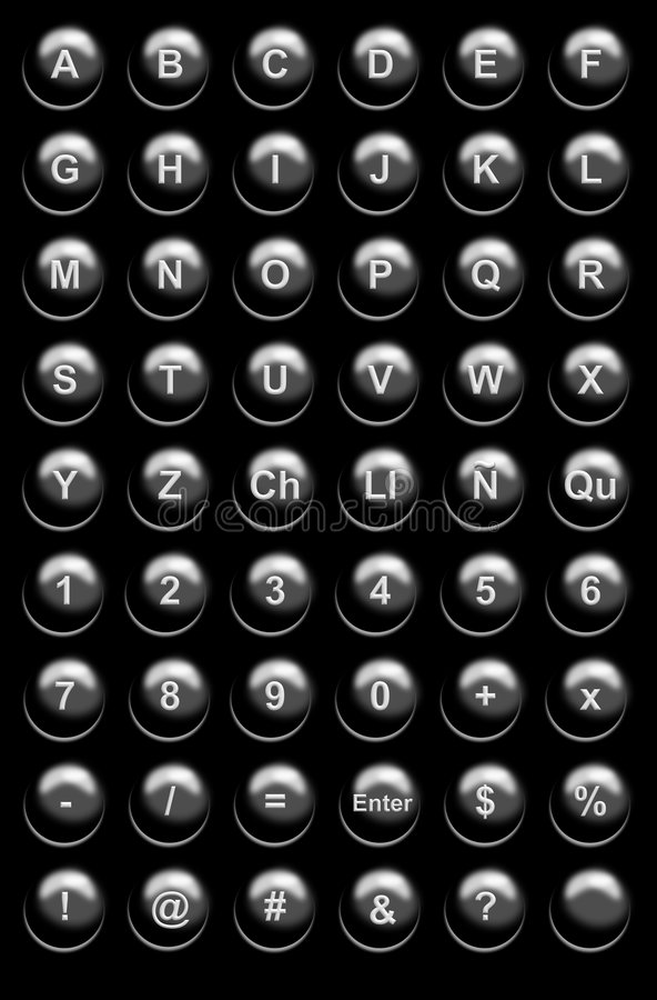 Download Black Website Buttons stock illustration. Image of calculations - 153787