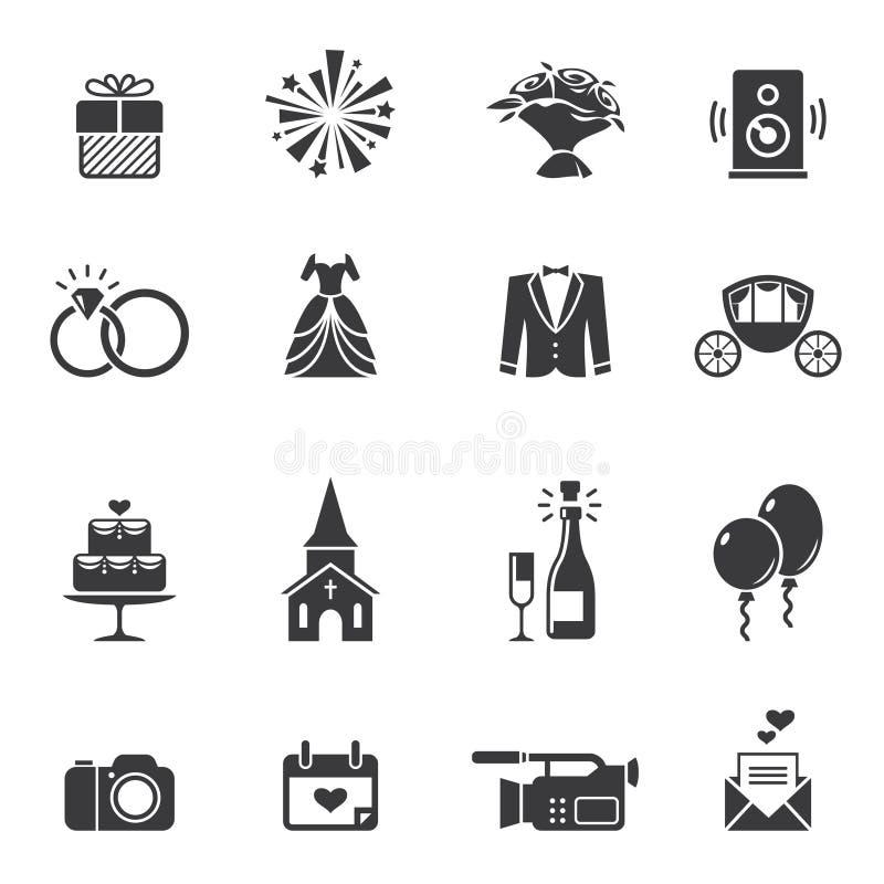 Free Black Wedding Icons Royalty Free Stock Image - 48871566