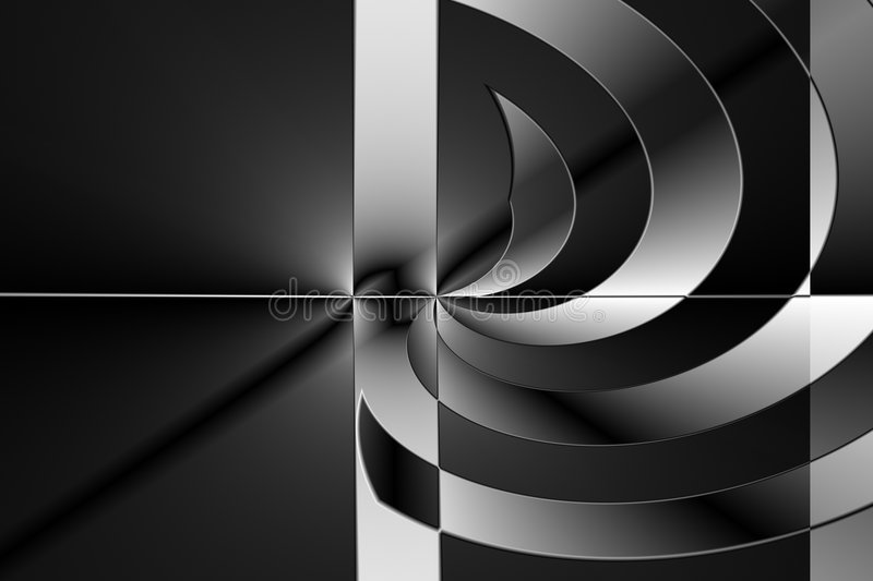 Black and white abstract royalty free stock photo