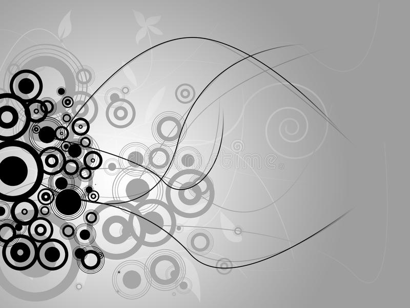 Black and white abstract background. Elegant and have some floral details royalty free illustration