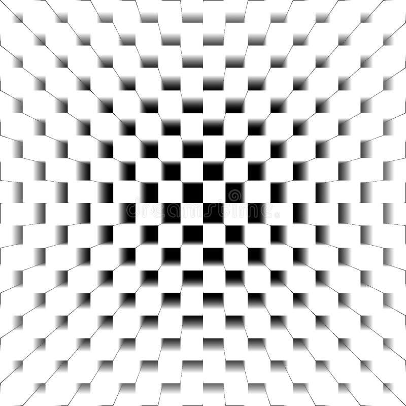 Black and white abstract background, digital illustration stock illustration