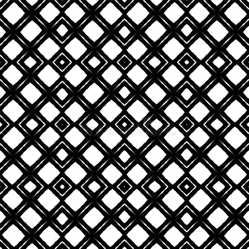 Black and white abstract background. Black and white abstract seamless pattern, curved, roumd royalty free illustration