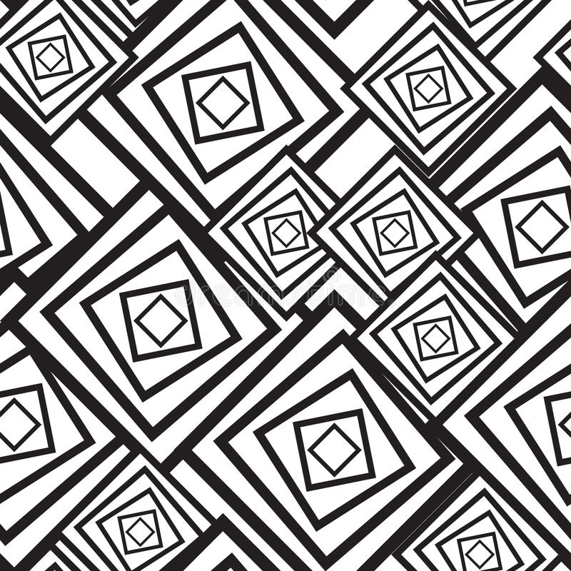 Black-and-white abstract background with squares