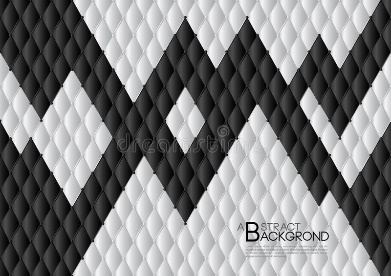 Black and white abstract background vector illustration, cover template layout, business flyer, Leather texture luxury vector illustration
