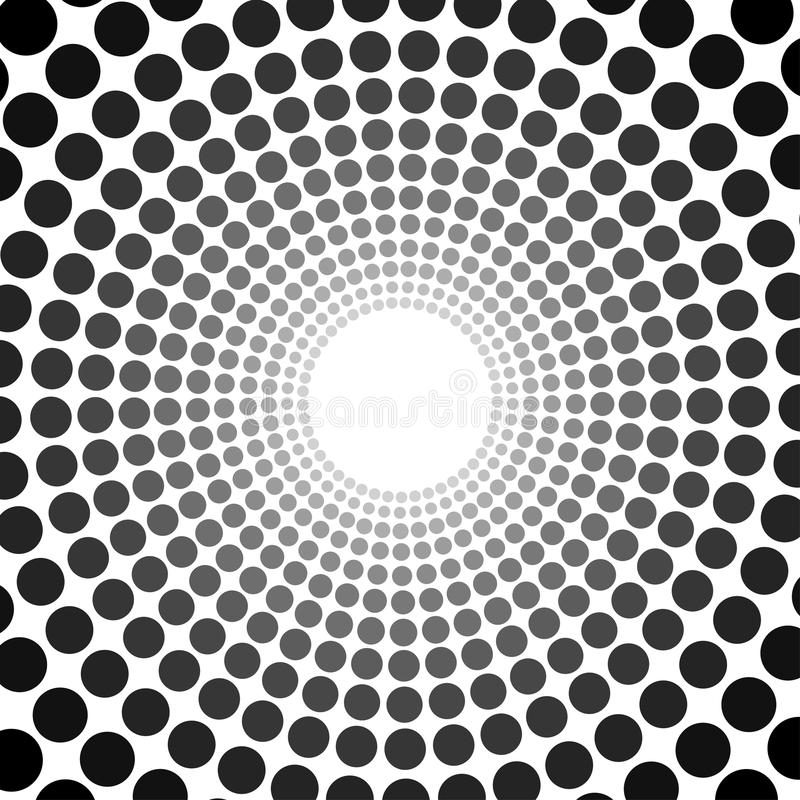 Black abstract circle frame halftone dots logo emblem design royalty free illustration