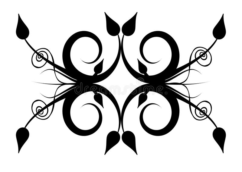 Black white abstract design stock images