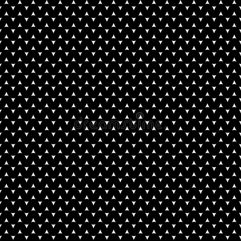 Black and white abstract pattern, background, texture. Abstract stylish background. Wavy regular pattern. Endless texture can be used for printing onto fabric vector illustration
