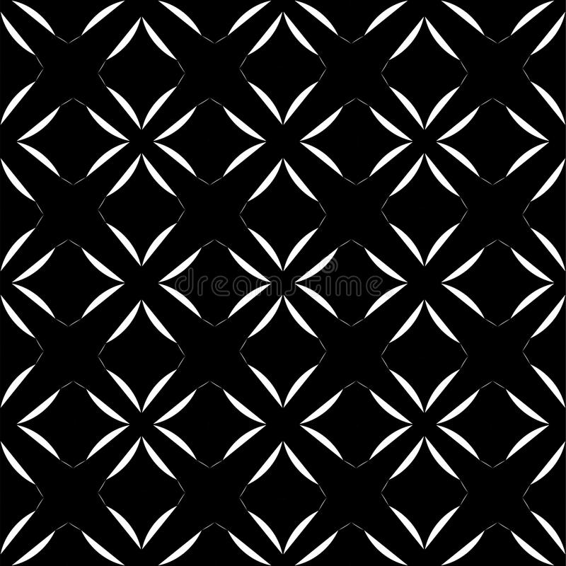 Black and white abstract background. Black and white abstract seamless pattern, curved, roumd vector illustration