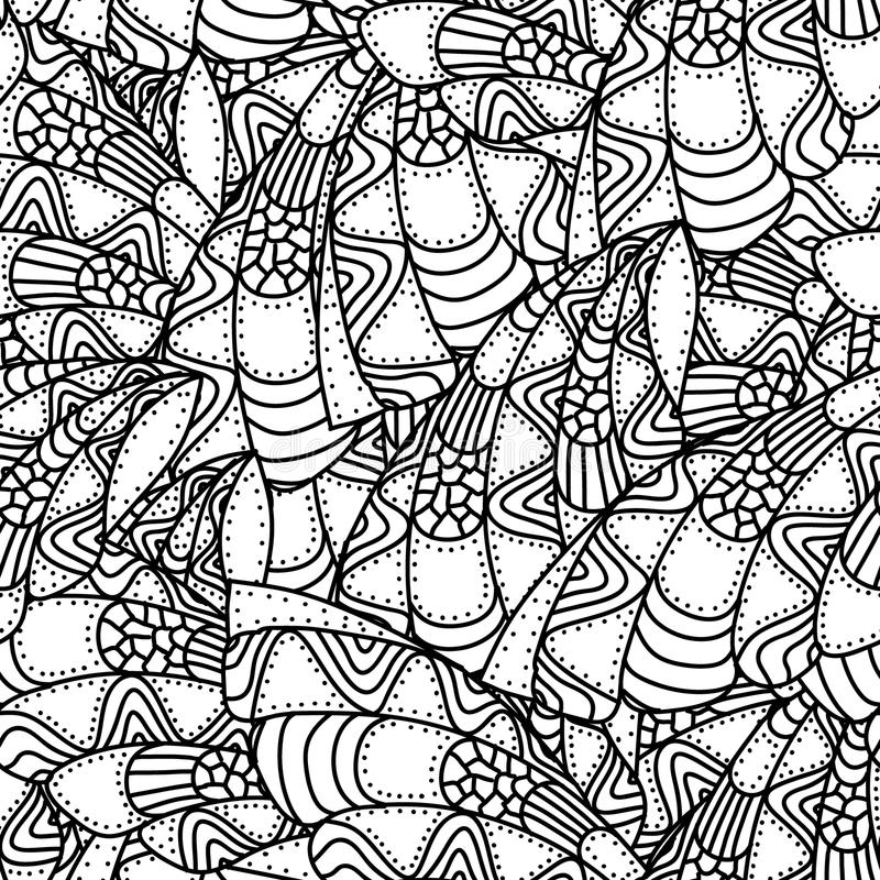 Black and white abstract seamless pattern vector illustration
