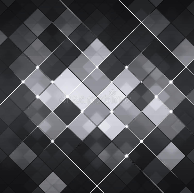 Black and White Abstract Technology Background stock illustration