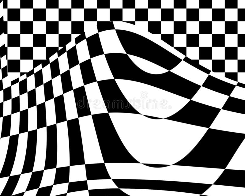 Black and white abstract textured background, Geometric lines monochrome with gradient, use for desktop wallpaper or website royalty free illustration
