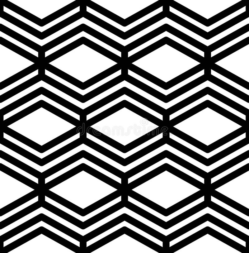 Black and white abstract textured geometric seamless pattern vector illustration