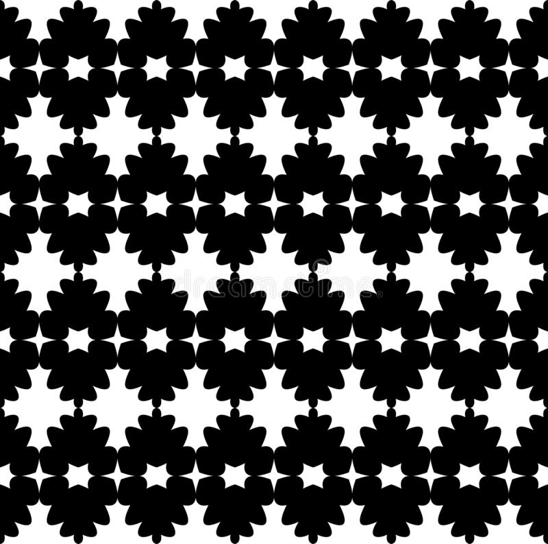 Black and white abstract vector background and seamless repeat pattern design vector illustration