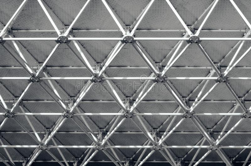 Black and white abstraction. Beautiful background. Black and white abstraction. Beams under the roof. Beautiful background stock photography