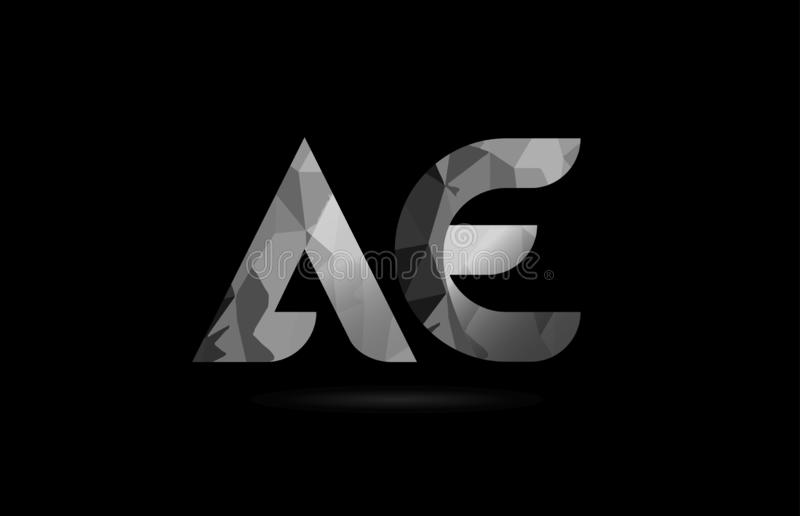 Black and white alphabet letter ae a e logo combination. Design suitable for a company or business vector illustration