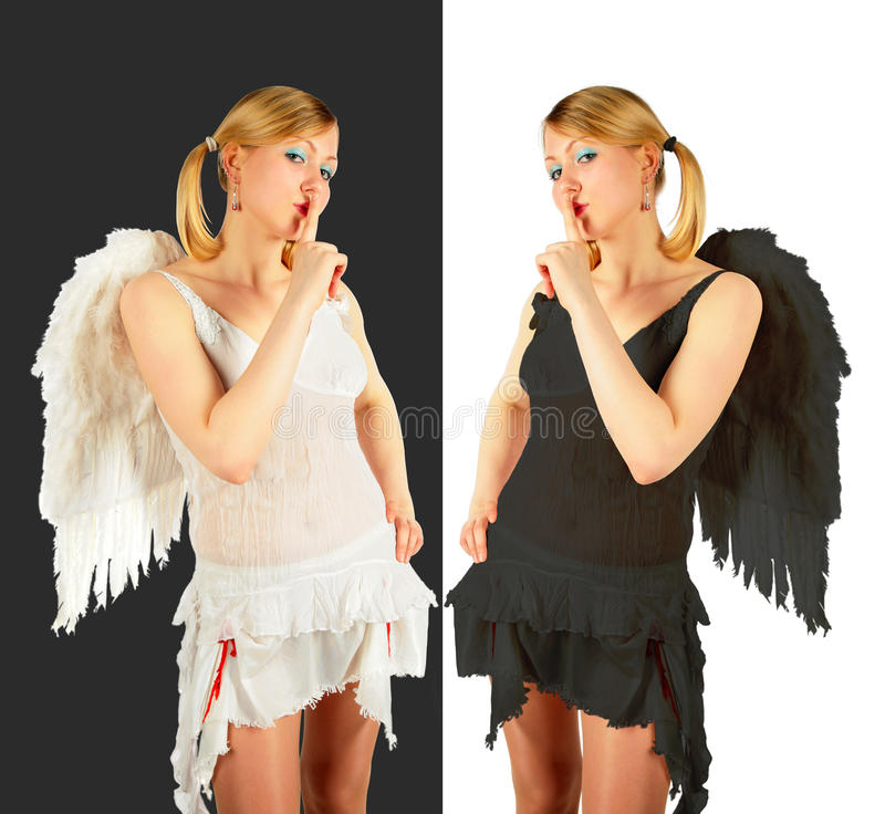 Download Black And White Angels Collage Stock Image - Image of caucasian, fashion: 11808861