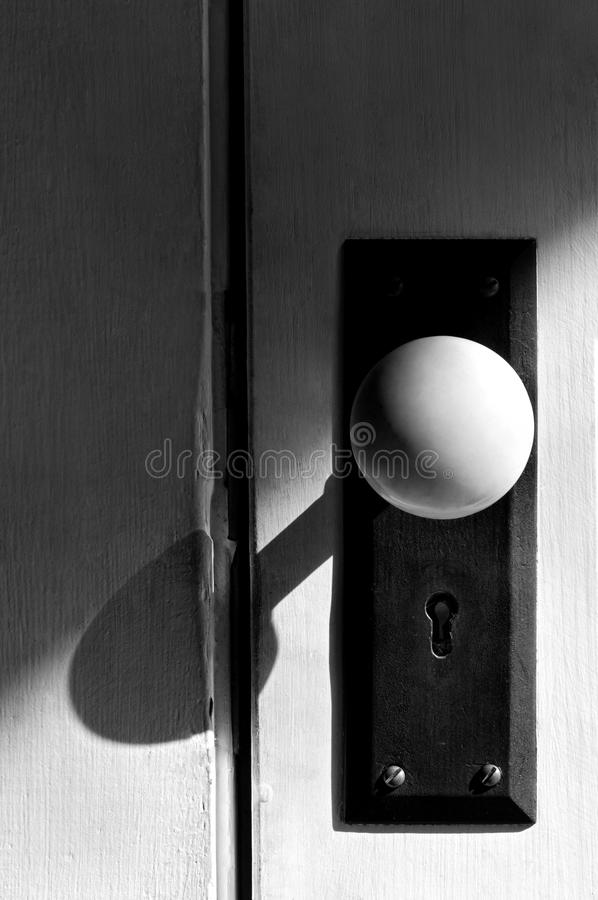 Black And White Antique Door Knob Stock Image - Image of screws ...