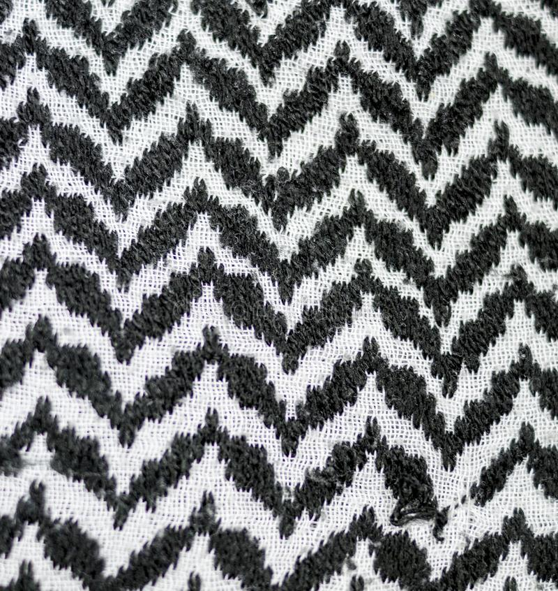 Black and white arabic style fabric textile. background, texture. Abstract black and white arabic style fabric textile. background, texture stock photo