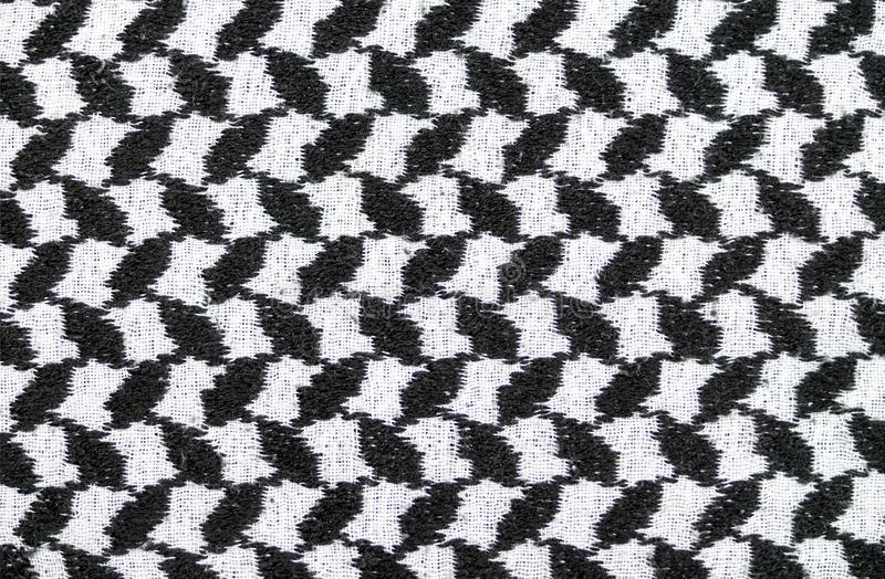 Black and white arabic style fabric textile. background, texture. Abstract black and white arabic style fabric textile. background, texture stock image