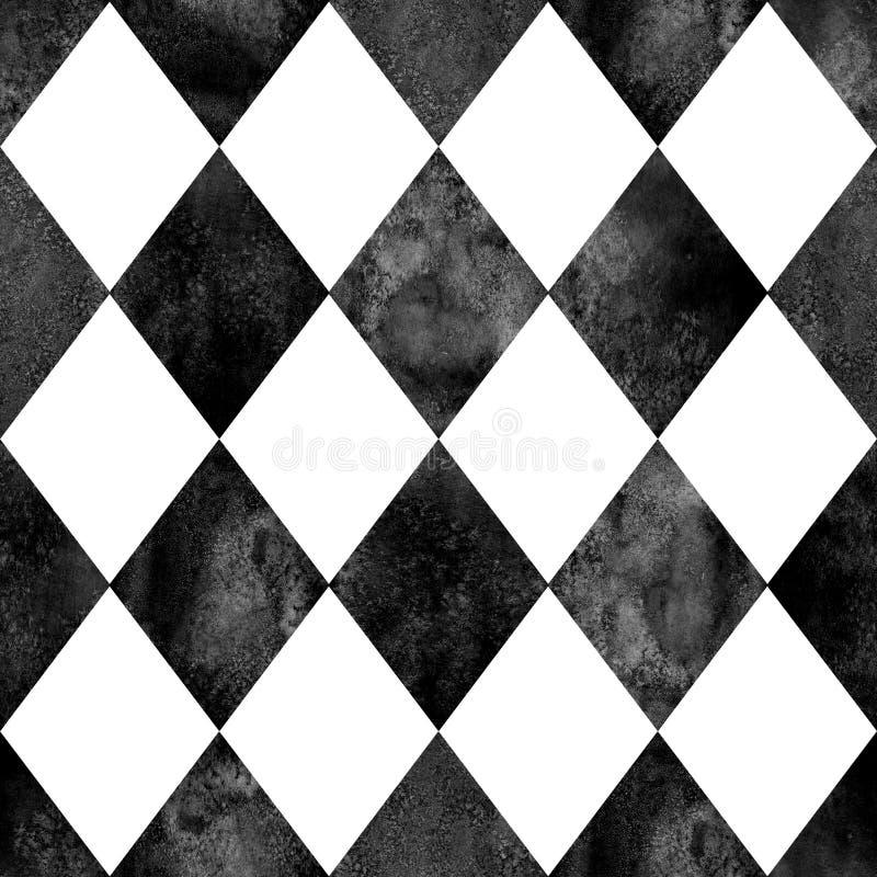 Argyle Pattern Black White Stock Vector Illustration Of