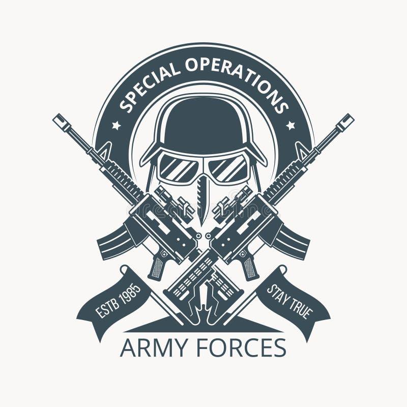 ARMY BADGE-01 stock illustration