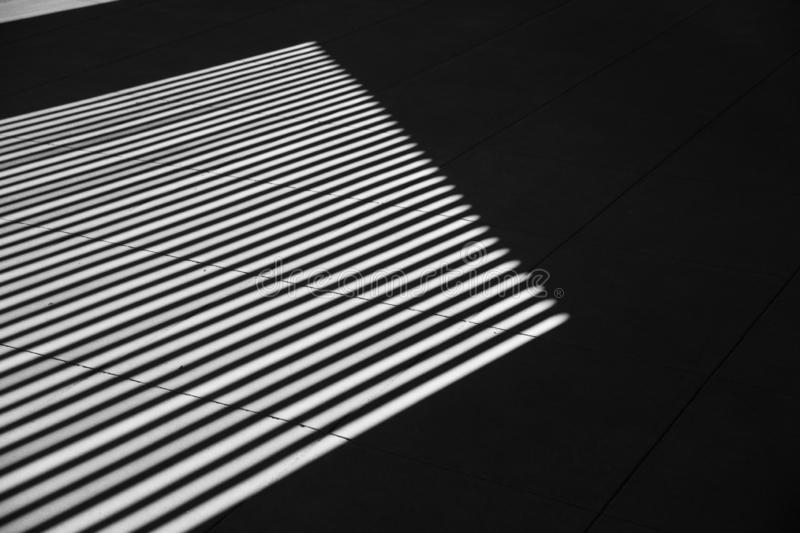 Black and white art photography shadow line interior royalty free stock photo