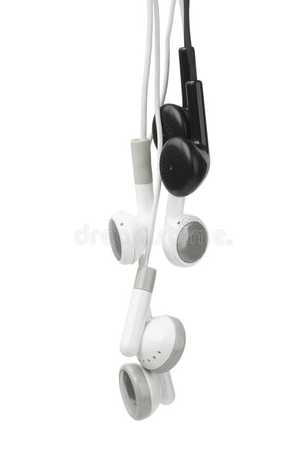 Download Black And White Audio Earphones Stock Image - Image: 22526733