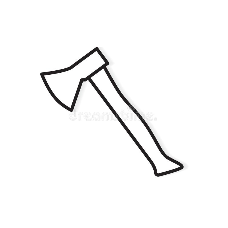 Black and white axe icon. Vector illustration vector illustration